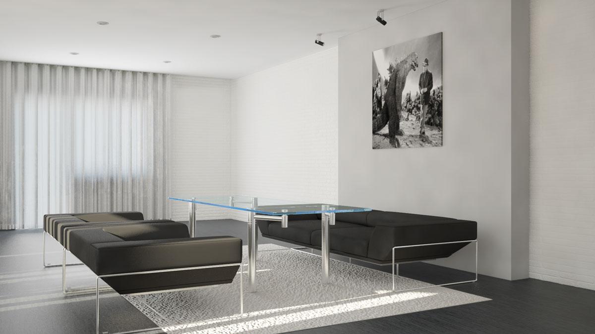 Apartment interior design, living-room