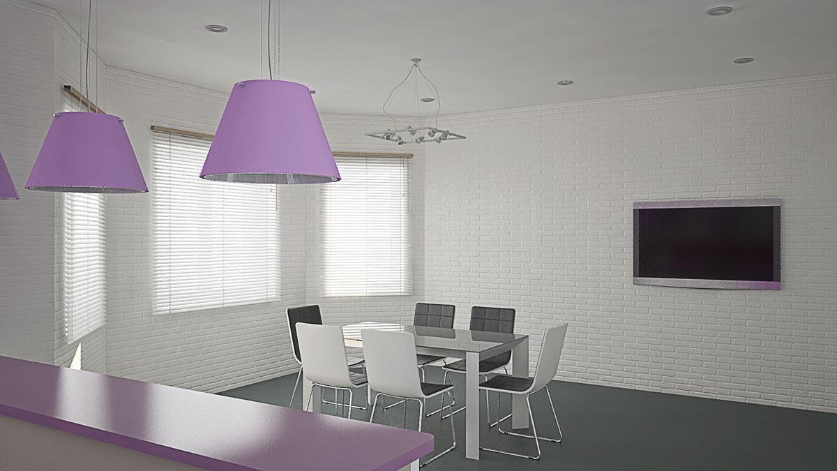 Apartment interior design, dining-room
