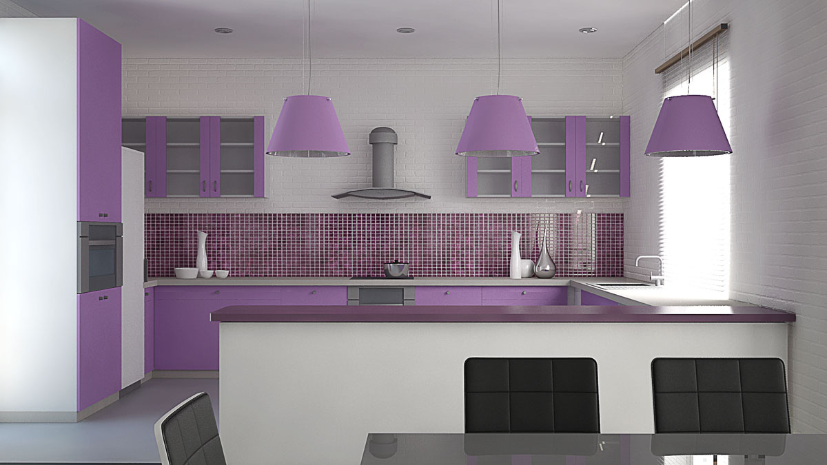 Apartment interior design, kitchen