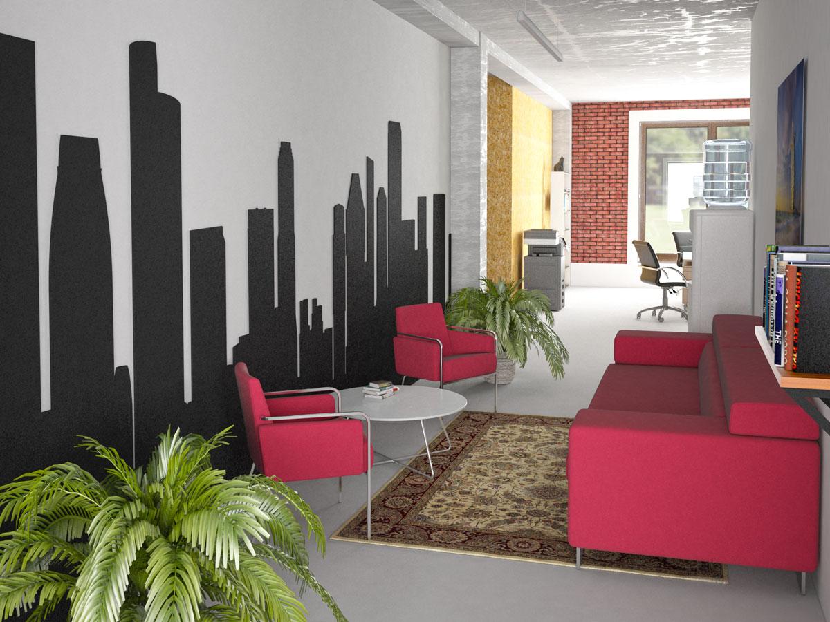 Interior design, study project, common area