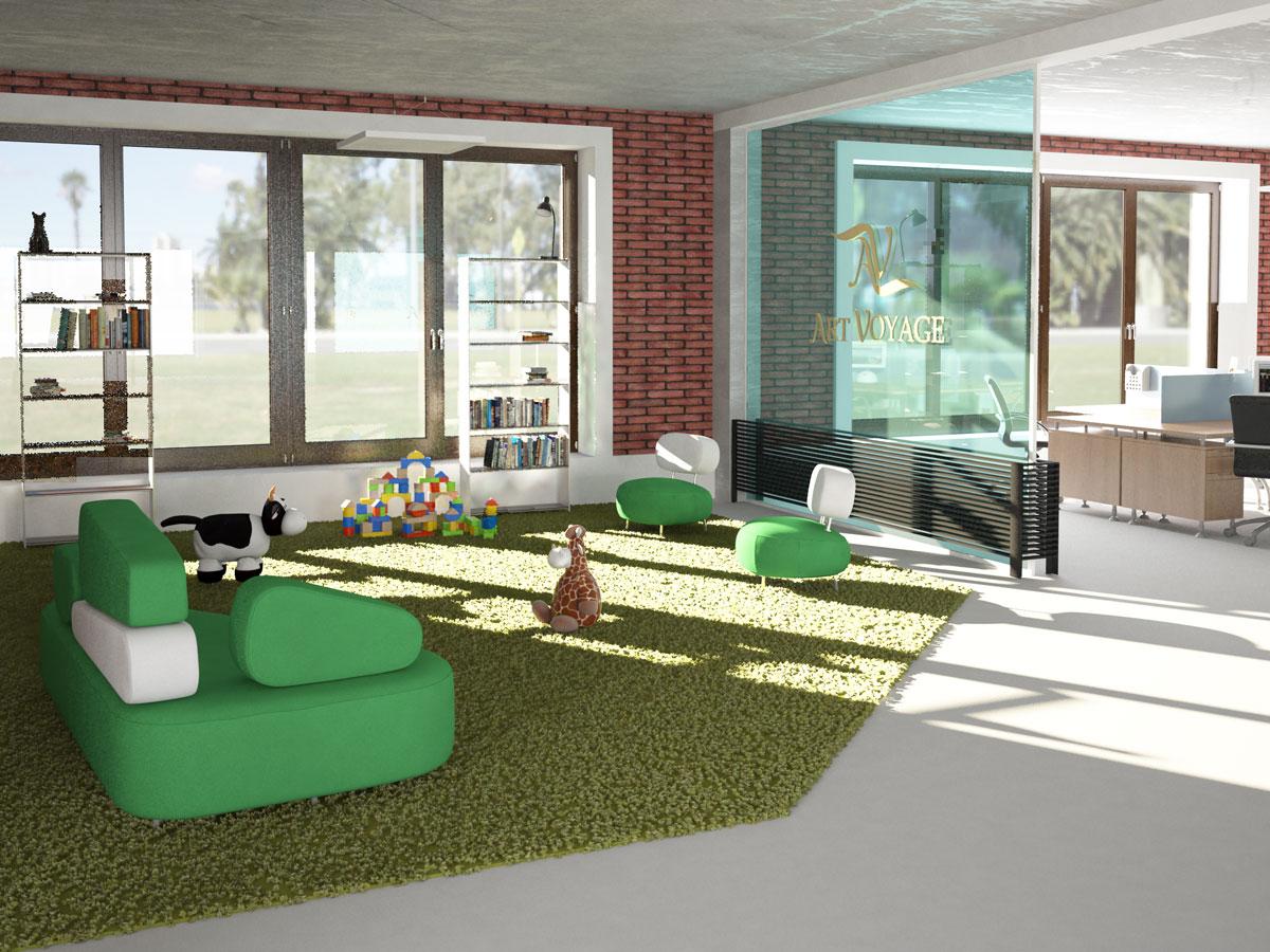 Interior design, study project, children area