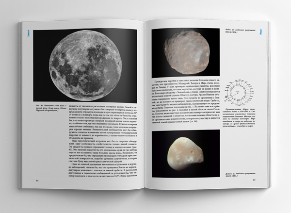 Ф. Л. Уиппл «Семья солнца» — проект книги — разворот